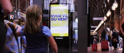 AFA JCDecaux - Digital skærm på Københavns Hovedbanegård