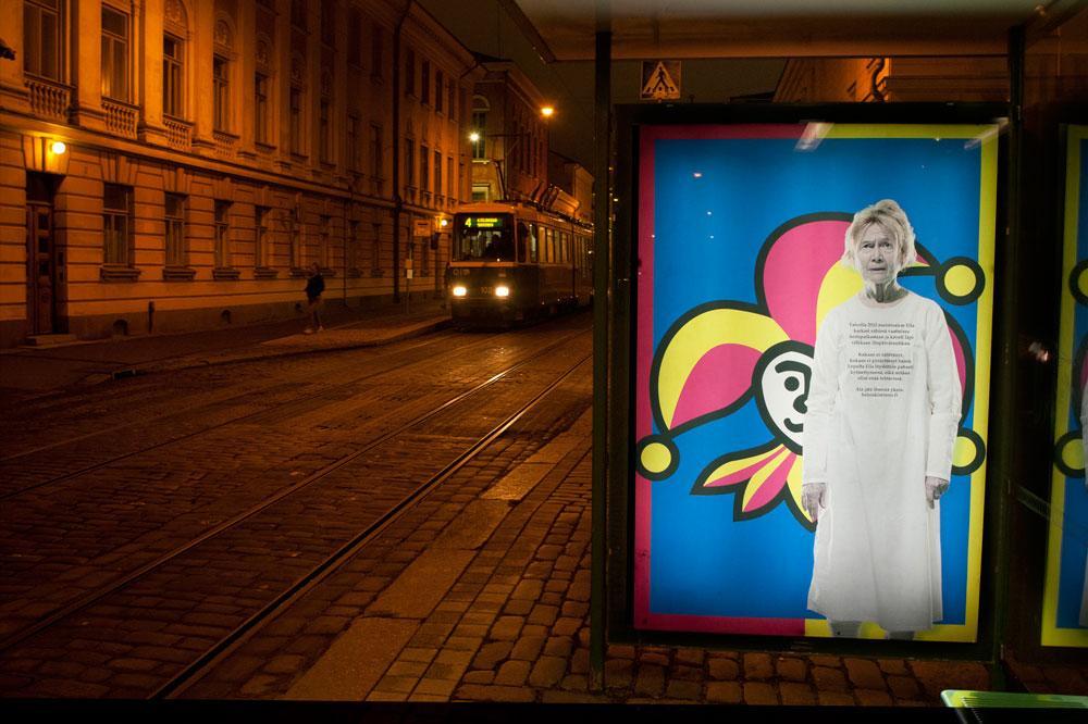 HelsinkiMissio julisteellaan Eila