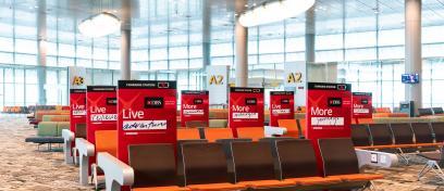 Advertising platform at charging stations in Terminal 3